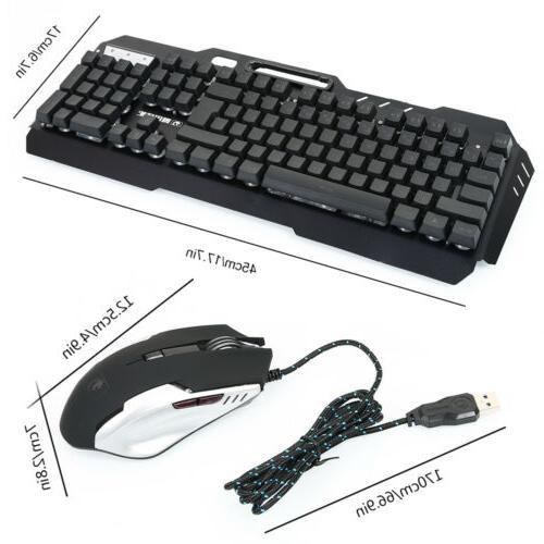 Computer Desktop Keyboard and Mouse Led Light Backlit