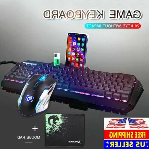 computer desktop gaming keyboard and mouse mechanical