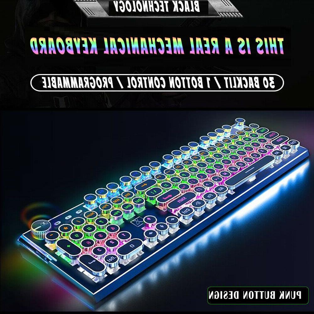 computer desktop pc gaming mechanical punk keyboard