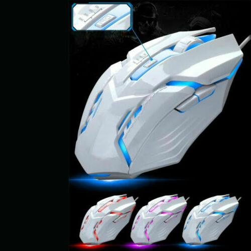Computer Gaming Keyboard LED Mouse Backlit Feeling For PS4 PC
