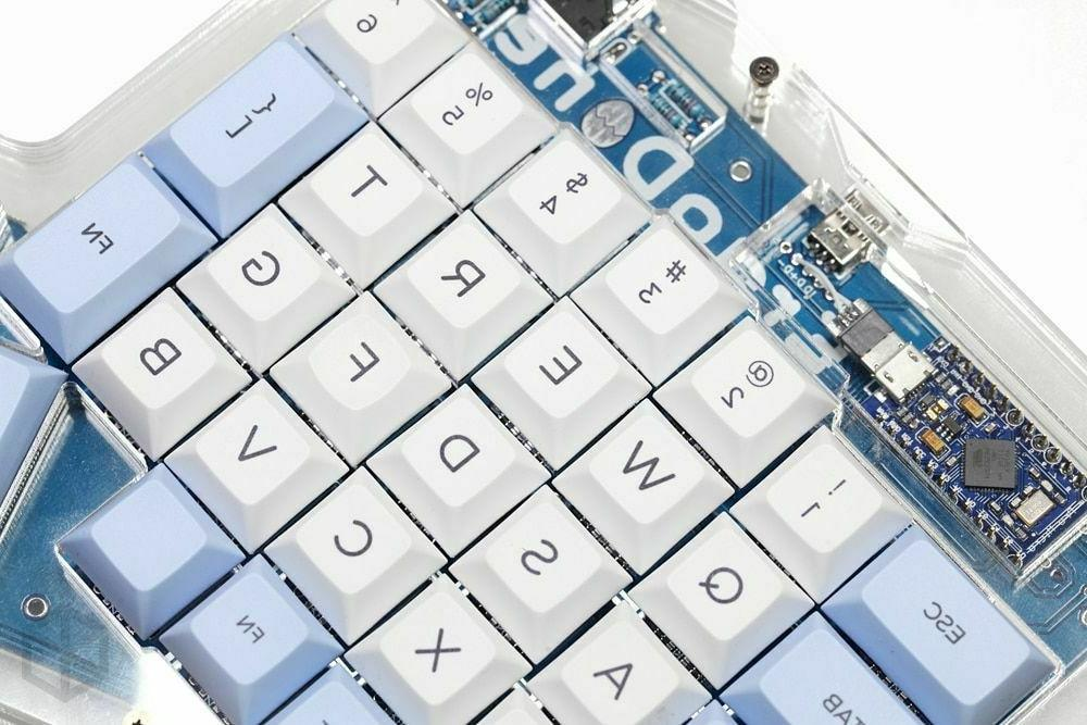 Custom Mechanical Blue White