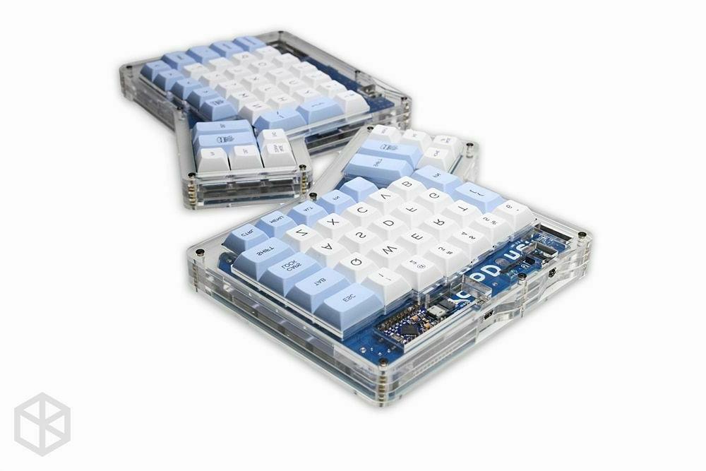 Custom Keyboards Infinity Ergonomic Keycaps Blue White