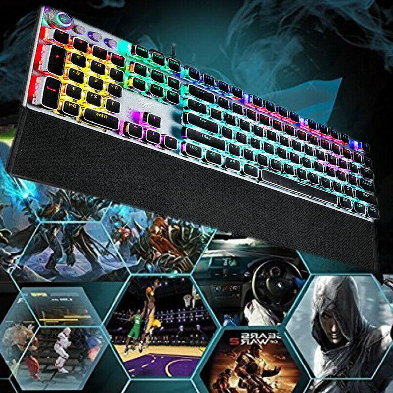 AULA Retro Mechanical Keyboard 104 Punk PC