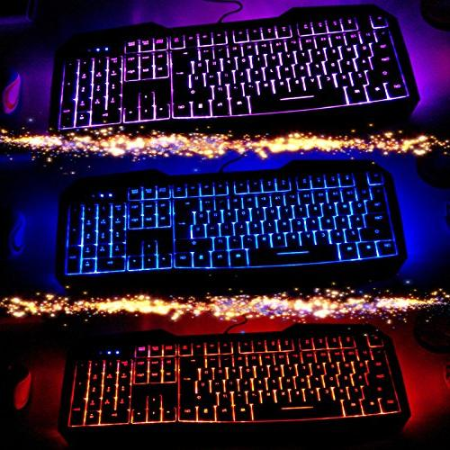 AULA FIRE LED Backlight USB Wired Optical Gaming