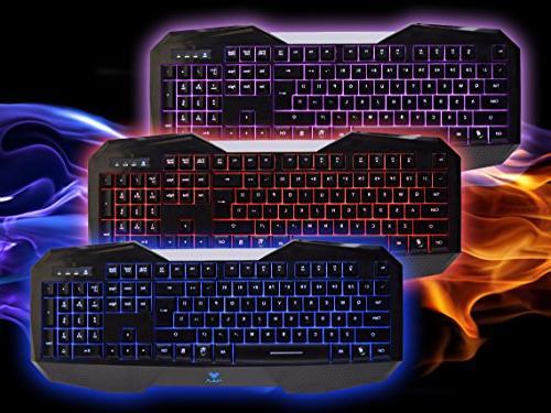 AULA BE LED Wired Optical Keyboard