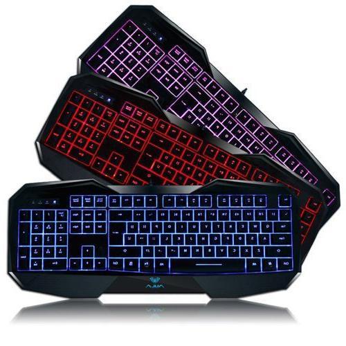 AULA LED Wired Optical Gaming Keyboard