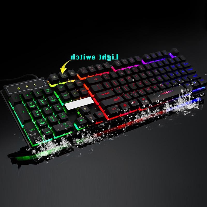 <font><b>Gaming</b></font> <font><b>Keyboard</b></font> 104 Keys Mechanical Fell Wired <font><b>Keyboards</b></font> <font><b>Backlit</b></font> for