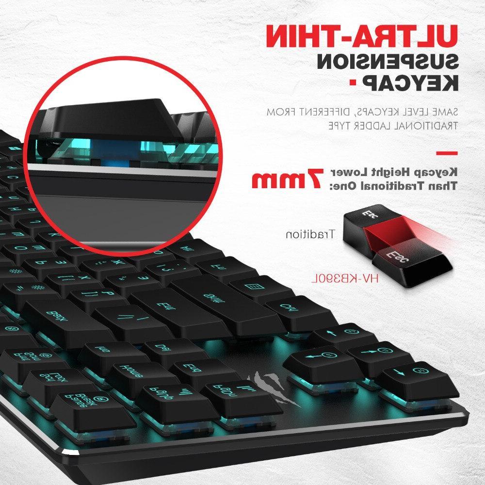 HAVIT Keys Ultra Low Extra-<font><b>Thin</b></font> Mini Blue HV-KB390L