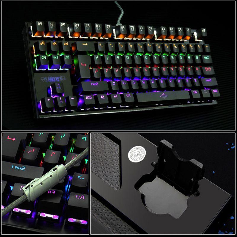 <font><b>Mechanical</b></font> <font><b>Mechanical</b></font> <font><b>Keyboard</b></font> 87 Keys Ultra Extra-<font><b>Thin</b></font> Gaming <font><b>Keyboard</b></font> Blue for PC Laptop