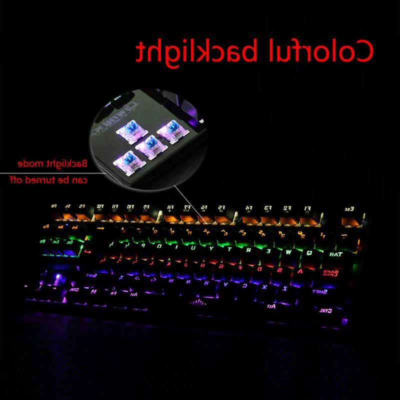 <font><b>Mechanical</b></font> 87 Keys Ultra Low Extra-<font><b>Thin</b></font> Gaming <font><b>Keyboard</b></font> Blue for