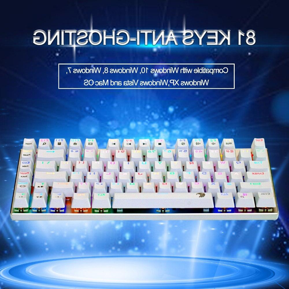 <font><b>Mechanical</b></font> <font><b>keyboard</b></font> red switch 81 keys <font><b>RGB</b></font> game <font><b>keyboard</b></font> design layout