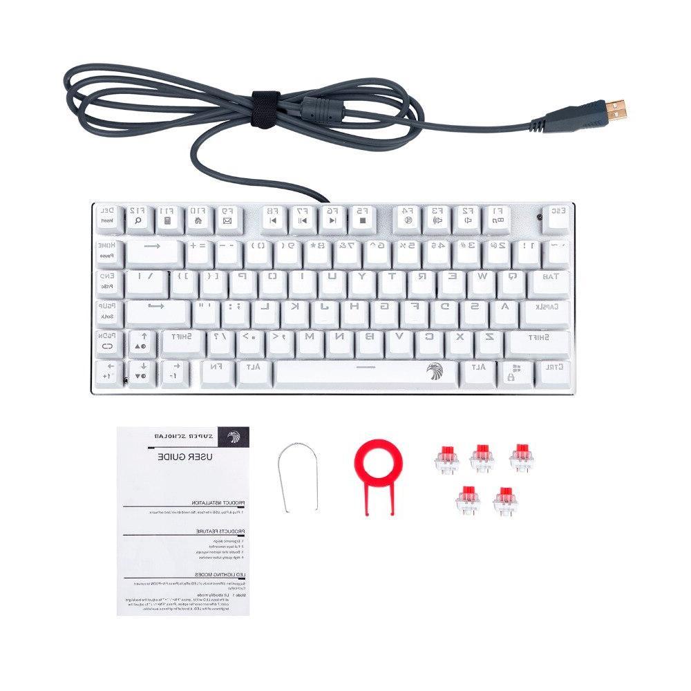 <font><b>Mechanical</b></font> line red switch 81 <font><b>RGB</b></font> <font><b>keyboard</b></font> compact layout