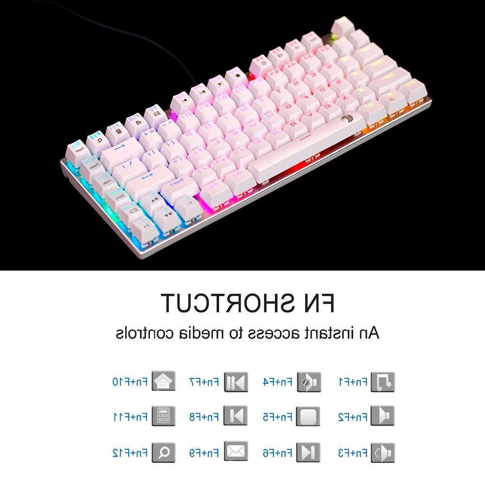 <font><b>Mechanical</b></font> <font><b>keyboard</b></font> red switch 81 <font><b>RGB</b></font> backlight <font><b>keyboard</b></font> layout eagle