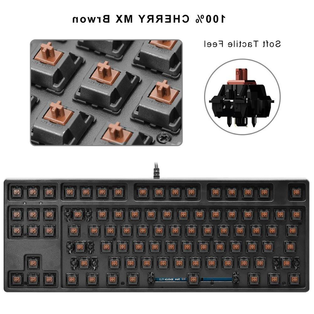 GANSS <font><b>Mechanical</b></font> <font><b>Keyboard</b></font> 87 with - Mixing Shot Cherry Brown Switches Key