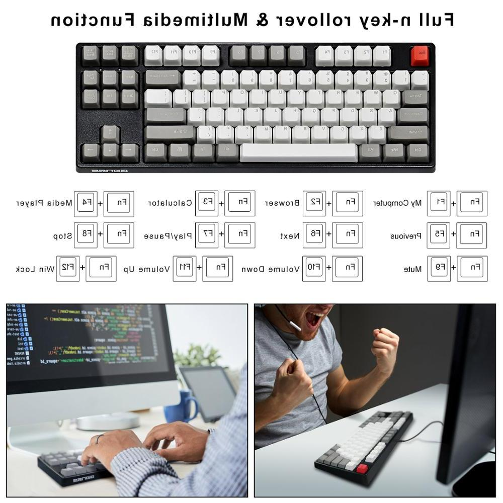 GANSS <font><b>Programmable</b></font> <font><b>Mechanical</b></font> 87 Key with - Shot - Cherry Key
