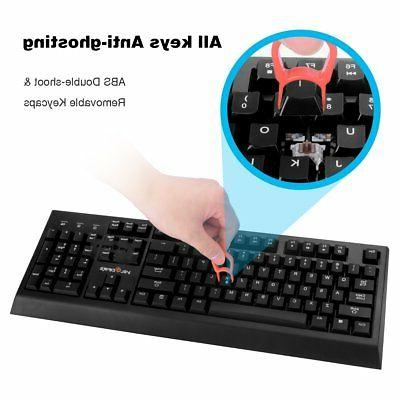 Velocifire Mechanical Keyboard w/ Switches NO Backlight