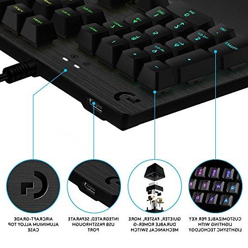 Logitech G513 RGB Backlit Mechanical Romer-G Keyswitches