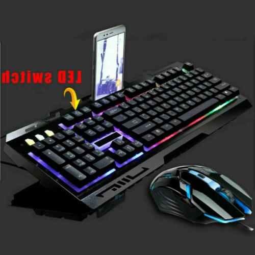 G700 Gaming Mouse Combo RGB Quiet Ergonomic Water-Resistant