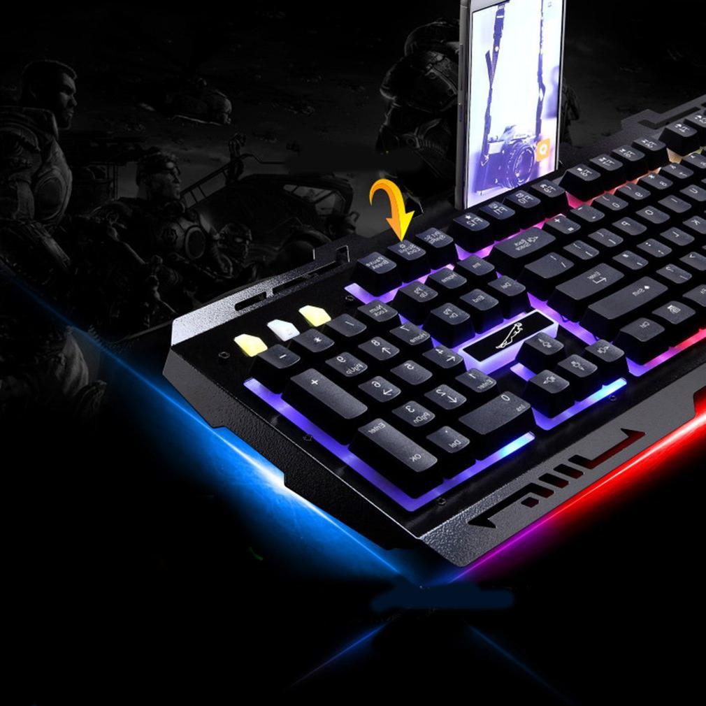 G700 <font><b>Mechanical</b></font> feeling <font><b>Keyboard</b></font> led Backlight Gaming phone stand