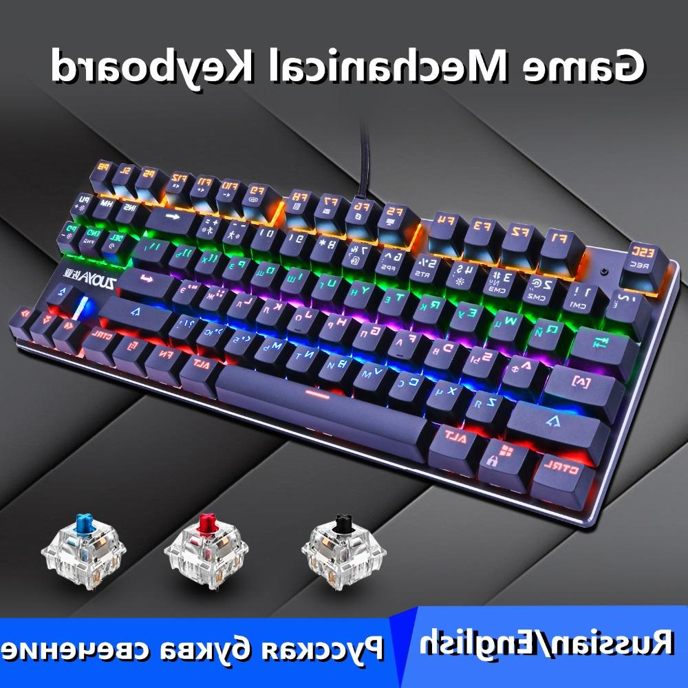 ZUOYA 87 keys Red Switch <font><b>RGB</b></font>/MIX light wired Gaming for PC Laptop