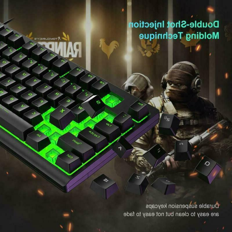 Gaming Keyboard LED 104 USB Wired Mechanical NEW