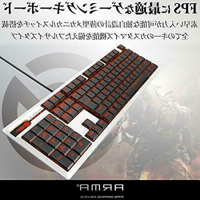 Elecom Gaming Keyboard own thin design full-size 50 million ti