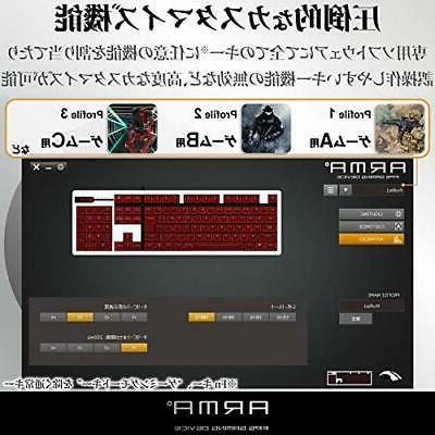 Elecom Gaming Keyboard own thin 50 million ti
