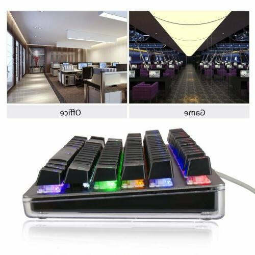 Gaming Keyboard Backlit PC Mechanical Feeling LED JV