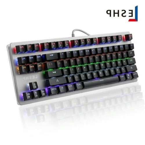 Gaming Mechanical Feeling Wired LED Illuminated