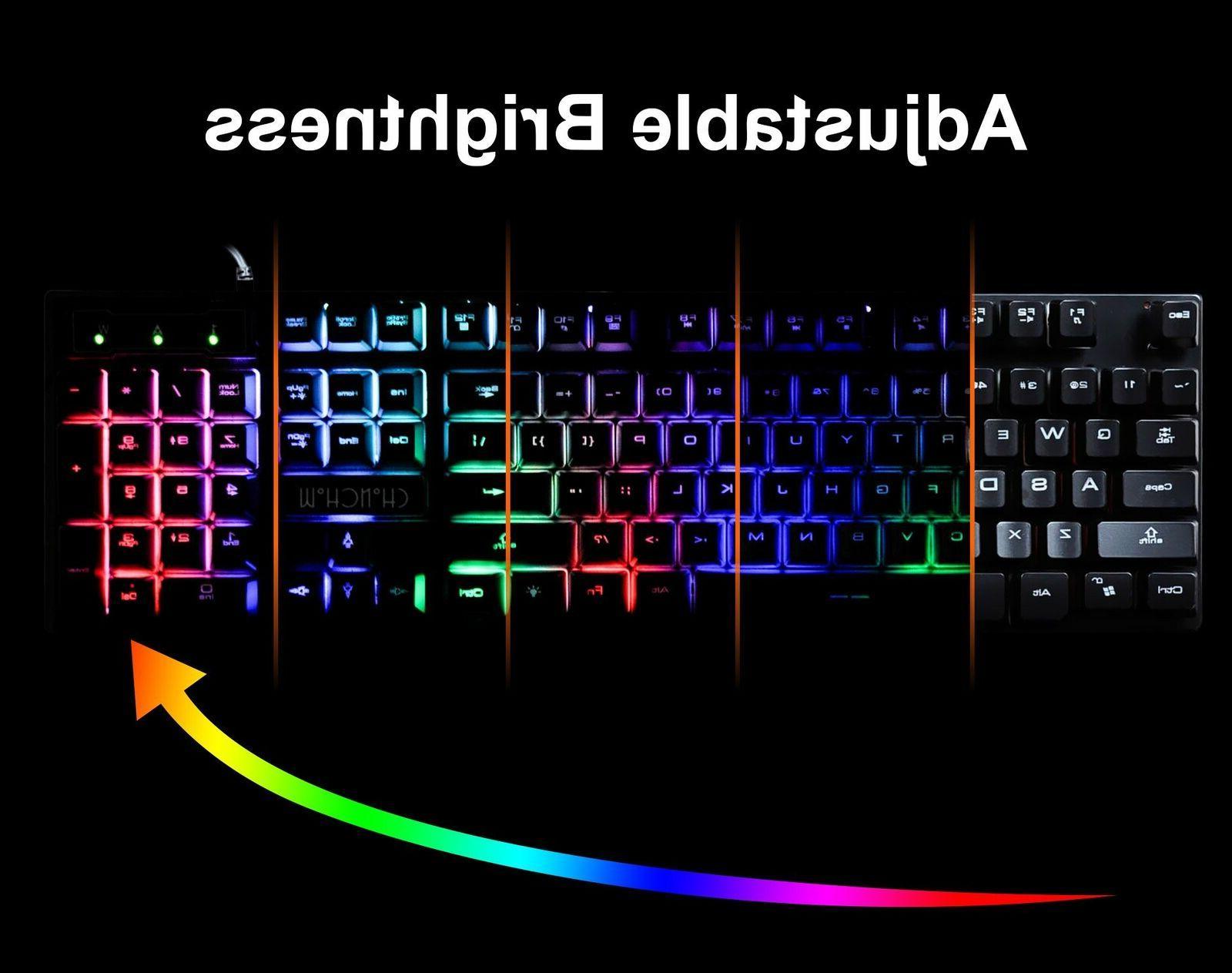 Gaming Backlit PC Mechanical Feeling LED Illuminated