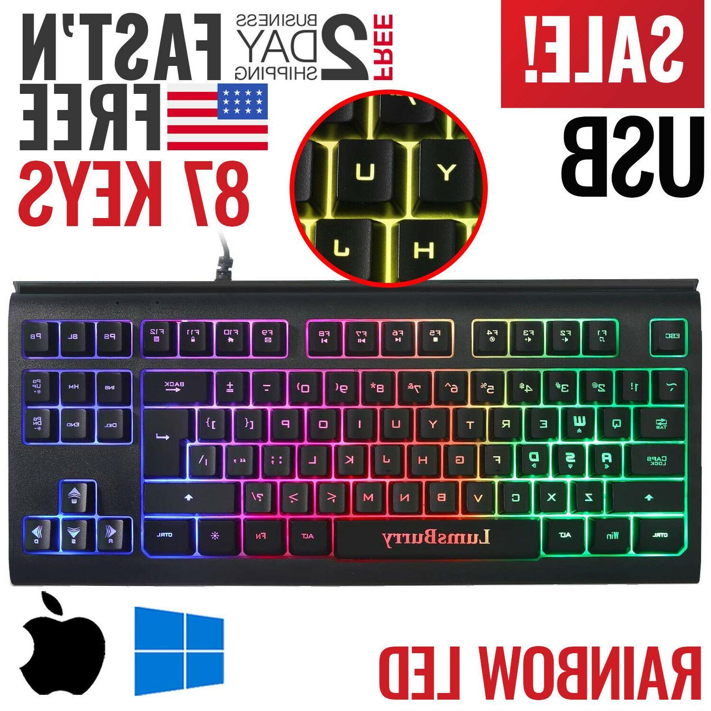 gaming keyboard backlit pc mechanical feeling backlight