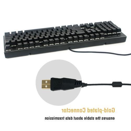 Gaming PC Mechanical Feeling Wired LED Illuminated US