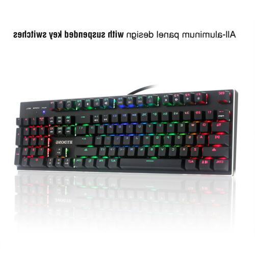 Gaming Keyboard PC Mechanical Backlight LED Illuminated