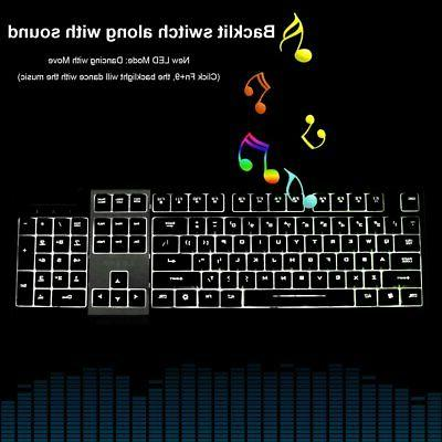 LED Gaming Mouse Set Mechanical Feel Breathable PC