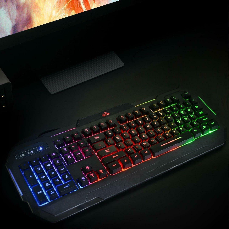 Gaming Keyboard Mechanical Feeling LED Illuminated