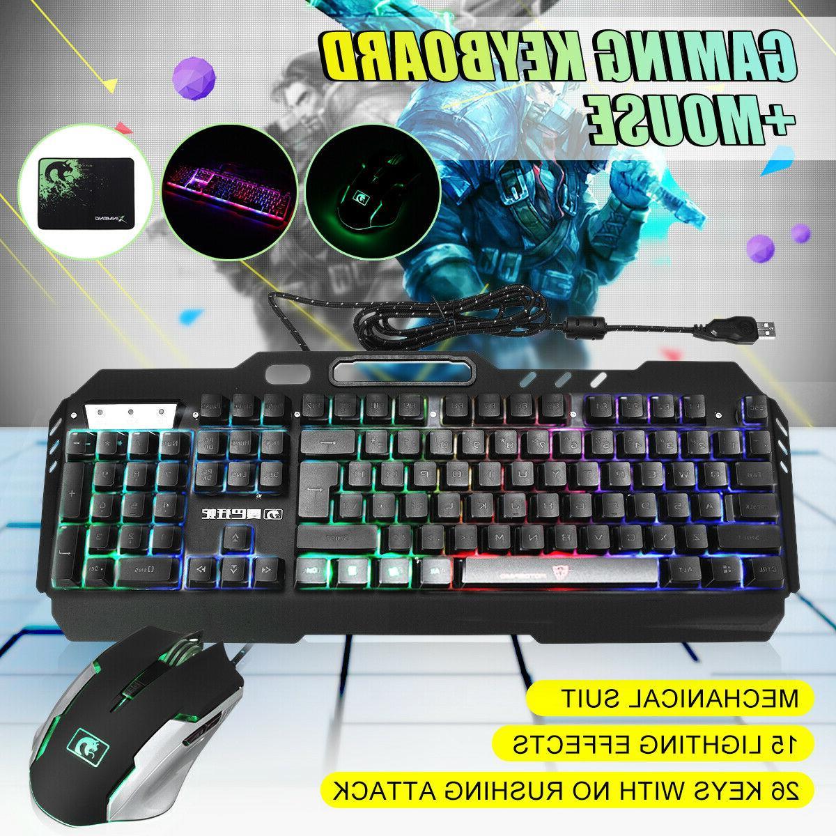 Gaming Keyboard PC Illuminated Waterproof