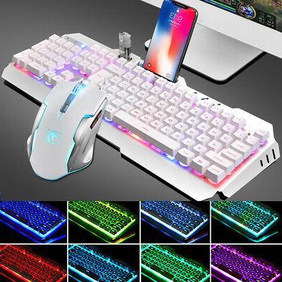 Gaming Keyboard Backlit PC Mechanical Feeling Illuminated