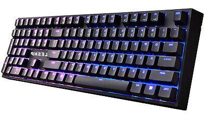 gaming keyboard mechanical rgb backlit blue switches