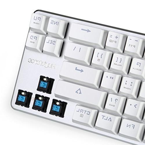 Qisan Mechanical Wired Backlight Backlight 68-Keys Mini White