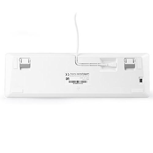 Qisan Wired Blue Switch Backlight keyboard 68-Keys Mini Silver