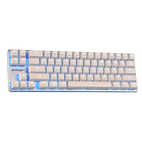 Qisan Mechanical Wired MX Backlight Backlight keyboard Mini Design White