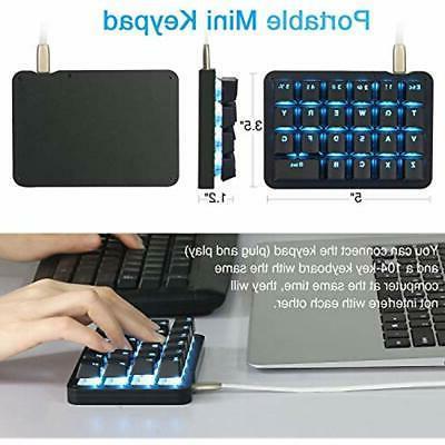 Koolertron Gaming Keyboards Handed Macro LED