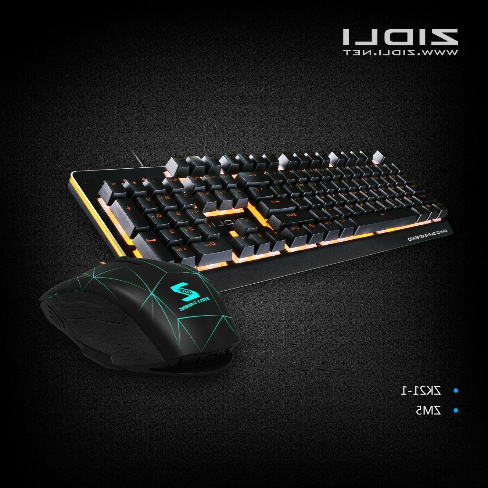 gaming mechanical keyboard and mouse combo