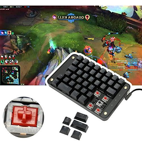 Koolertron Switches Programmable Gaming Keypad, Gaming Keyboard Programmable Keys, Single-Handed Macro Setting