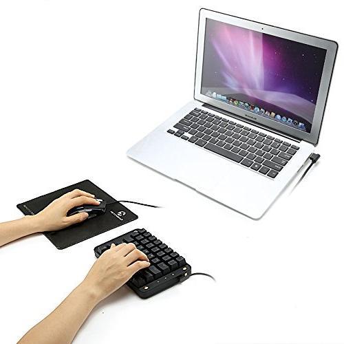 Koolertron Gateron Programmable Gaming Keypad, Gaming with Programmable Single-Handed Keypad Macro