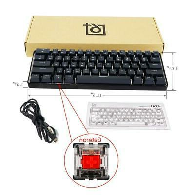 GK61 61 Key USB Wired LED Backlit Axis Gaming Mechanical Key