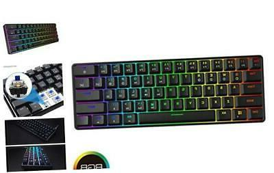 gk61 mechanical gaming keyboard 61 keys multi
