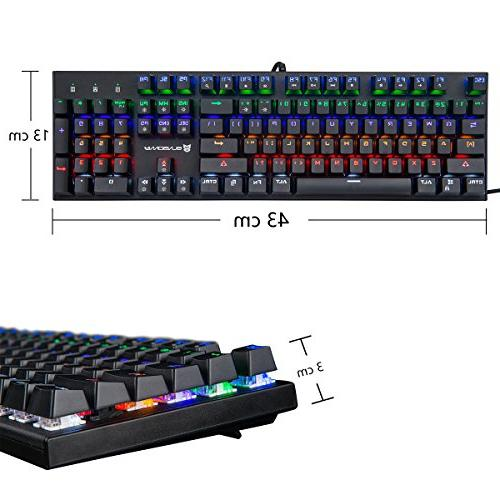 Keyboard with Brown Wired Colors Led Backlit Keyboard Full US Layout