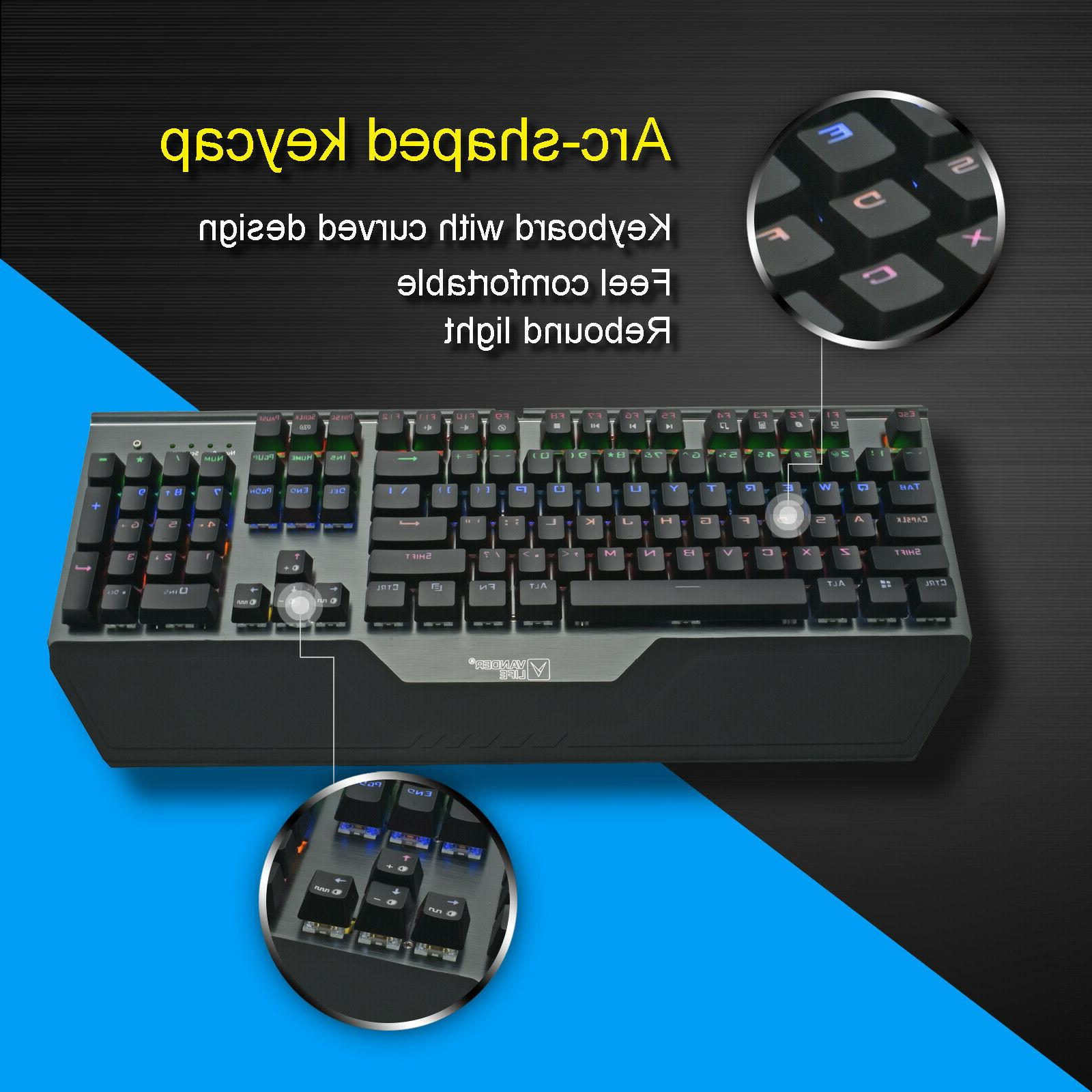 Hot Swappable Mechanical keyboard 104 Switch New