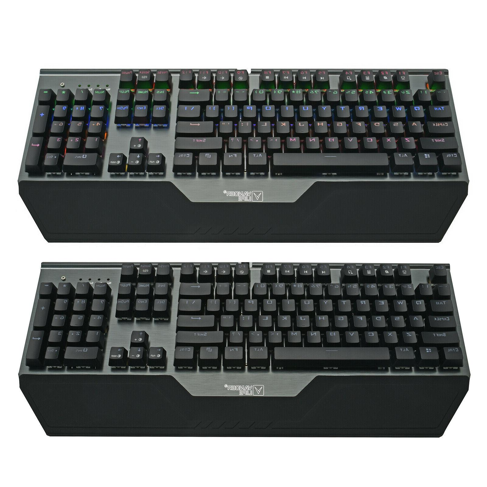 Mechanical Keyboard RGB LED High Standard Ergonomic Gaming